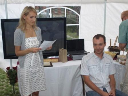 Chrzest Andrzeja - nowego technologa (Aleksandra Jasińska-Kloska, Andrzej Nelke)