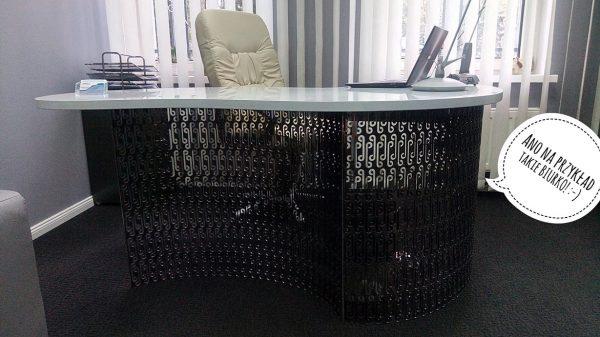biurko z odpadów produkcyjnych - stal