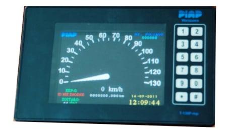 Wskaznik predkosci LCD z panelem operatora