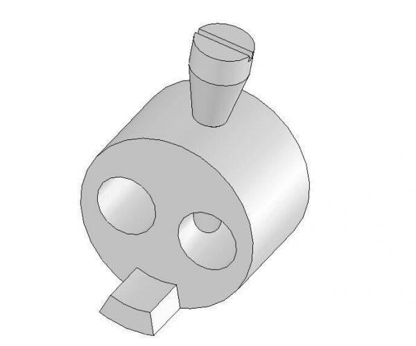 Krzywka ze śrubą (zamka drzwi bocznych) DL-O 17 024-00