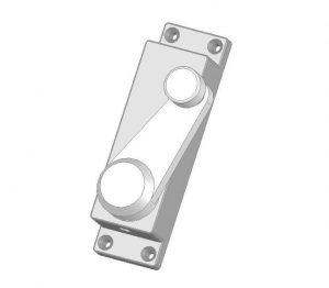 Klamka wewnętrzna z blokadą elektromagnetyczną drzwi prawych wagony DL-O 17 044-00