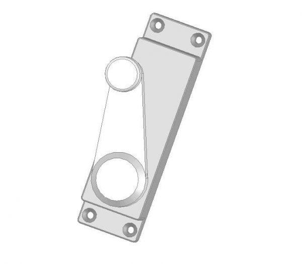Klamka wewnętrzna z blokadą elektromagnetyczną drzwi lewych DL-O 17 045-00
