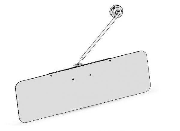 Osłona przeciwsłoneczna maszynisty DL-O 25 002-00