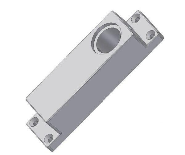 Korpus klamki z blokadą elektromagnetyczną DL-O 17 013-00