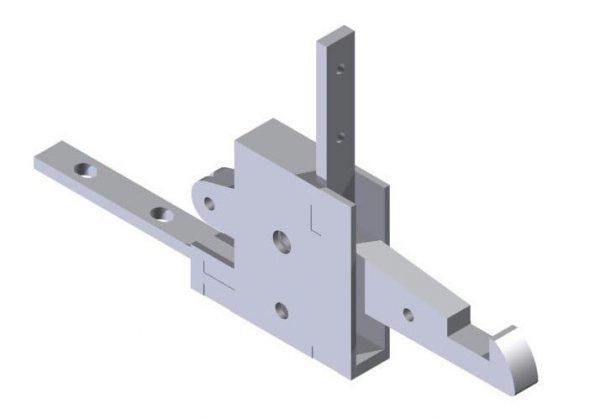 Zaczep drzwi suwnych WC DL-O 16 058-00