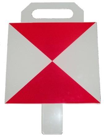 Tarcza końca pociągu (tablica biało-czerwona) DL-O 12 009-02