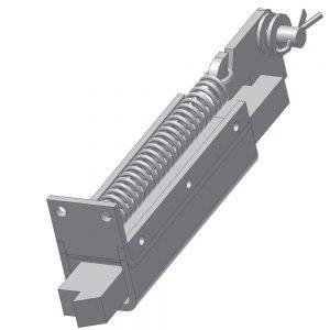 Rygiel dolny układu blokady drzwi DL-O 17 020-00