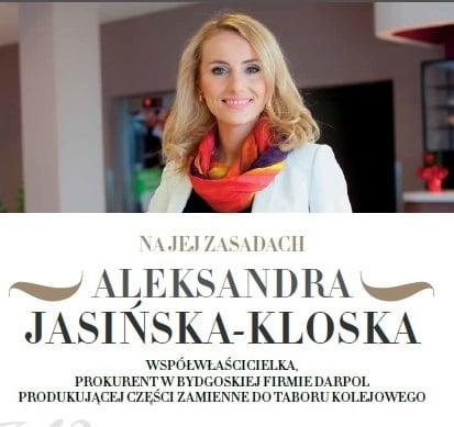Sukces Aleksandra Jasińska-Kloska Darpol