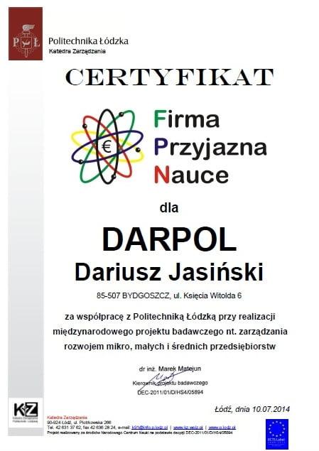 Darpol - Firma Przyjazna Nauce