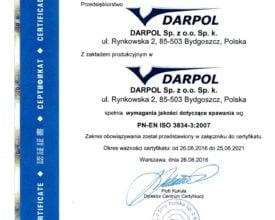 DARPOL ISO welding 3834