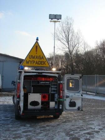 Maszty oświetleniowe na specjalne zamówienie policja