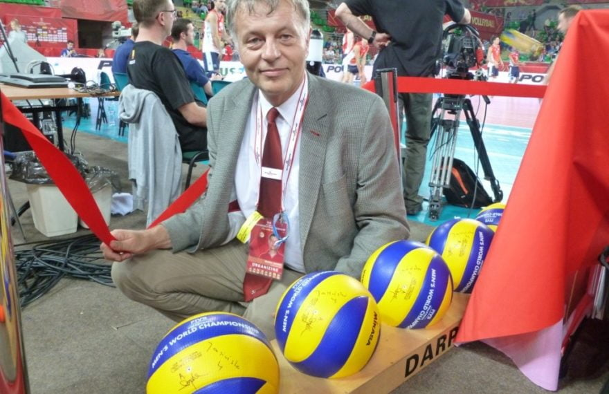 Volley balls in Darpol's ball stand at World Champioship