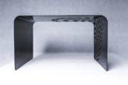 stylowy stolik kawowy ze stali - metal design art