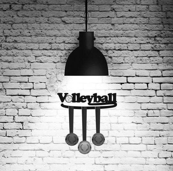 Volleyball medal hanger